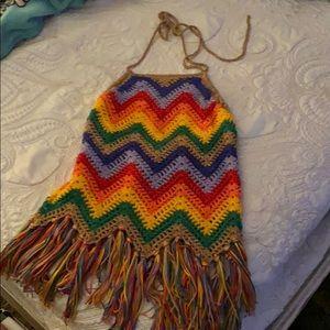 Judith March Crochet Halter Top